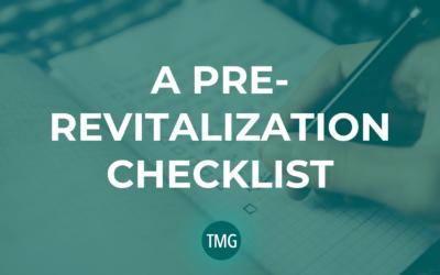 A Pre-Revitalization Checklist